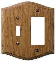 country medium finish oak wood 1 toggle 1 rocker wall plate