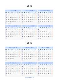 windows printable calendar 2018 split year calendars 2018 2019 calendar from july 2018 to june 2019