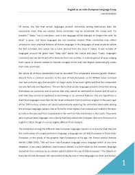 english as an indo european language essay