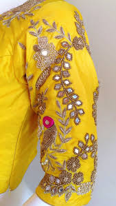 Custom Fit Design Custom Fit Pure Silk Blouse With Mirror Work Mirror Work