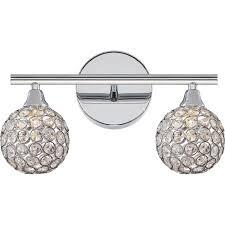 glam lighting. Glam Crystal Globe LED Bath Light - 2 Polished_chrome Glam Lighting