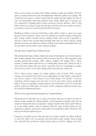 Cover Letter Resume Sample College Student A Sample Resume For A
