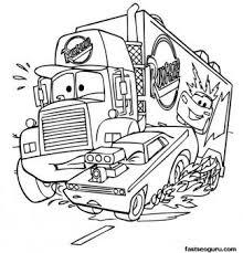disney cars coloring pages mack. Mack Car Printbale Coloring Pages Disney Characters Printable For Kids In Cars