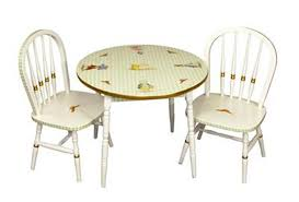 lovely round table and chair sets for children s furniture clic enchanted forest by art for kids