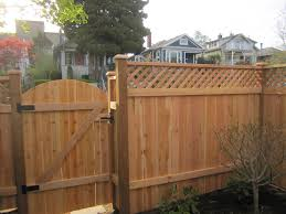 dome top gate back side wood fence gate1 wood
