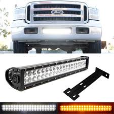2001 Ford F250 Light Bar Amazon Com Ijdmtoy Lower Grille Mount 20 Inch Dual Color