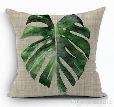 blue and green throw pillows. Tropical Green Leaves Cushion Cover Nature Banan Leaf Throw Pillow Case For Sofa Bed Chair Couch 45cm Square Capa De Almofada Patio Replacements Blue And Pillows