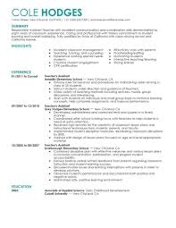 Assistant Teacher Resume Example Resume Ideas Marketing Resume
