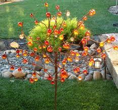 garden art. Ball Tree/ Bottle Metal Garden Art/ Drought Tolerant Art I