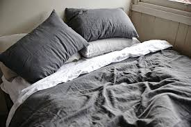 charcoal grey linen duvet cover dark covers gray pertaining to remodel 7