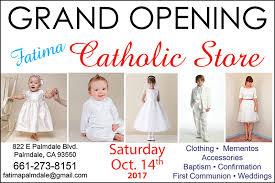 Grand Opening Postcards Fatima Catholic Store Grand Opening Postcards Proof Av Graphix