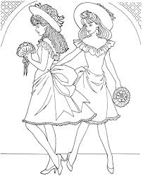 Small Picture Fashion Model Coloring Page Coloring Book