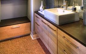 modern cork floor bathroom ideas