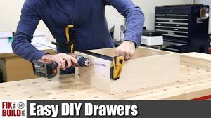 Easy DIY Drawers <b>with Pocket</b> Screws | How to Make - YouTube