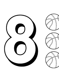 Small Picture 8 numbers coloring pages for kids printable free digits coloring