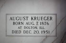 AUGUST KRUEGER - Beecher Mausoleum