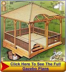 Square Gazebo Blueprint Diagram 1 Here are some free step by step DIY  square gazebo plans and blueprints for building a beautiful square gazebo.