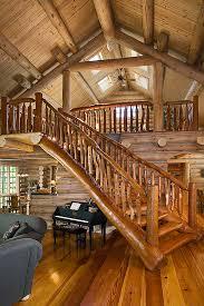 a michigan rustic log home with a ski lodge feel