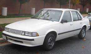 My 1st car was a 1988 Chevy Cavalier. Mine was silver, 4-door RS ...