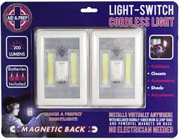 battery operated led lights 2 pack under cabinet shelf closet nightlight kitchen rv boat