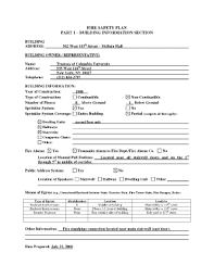 Nyc Fire Safety Plan Part 1 - Fill Online, Printable, Fillable ...
