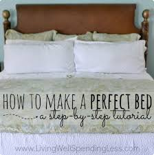 how to make a perfect bed bedmaking tips home management ways to make