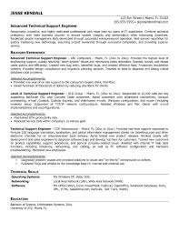 Resume Samples For Experienced Technical Support Refrence Technical