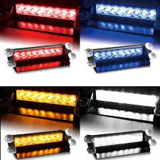 12v Blue Strobe Light Car Vechicle Led Emergency Strobe Flash Warning Light 12v 8