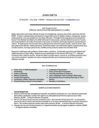 Sample Investigator Resume Click Here To Download This Social