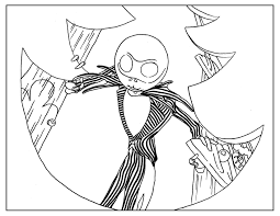 Coloring Page Inspired By Tim Burton