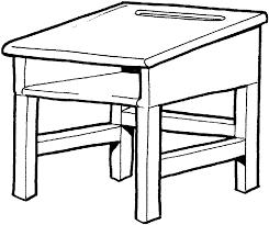 student desk clipart black and white. pin desk clipart outline #6 student black and white k
