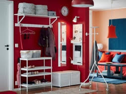hallway furniture ikea. Combine The Stackable MACKAPÄR Shoe Rack With A White Wall Shelf, Footstool And Peg Board Hallway Furniture Ikea N