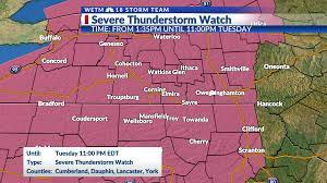 Severe Thunderstorm Watch is in effect ...