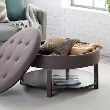 round tufted storage ottoman coffee table furniture in a small space you need pieces that maximize