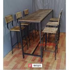 American Village estilo loft hierro forjado mesas y sillas combinación de  Bar retro para hacer viejos de madera sillas sillas de niño en Soportes de  TV de