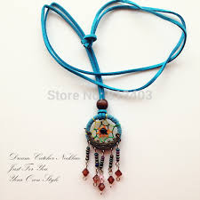 How To Make Your Own Dream Catcher Necklace Gorgeous Indian Dream Catcher Necklace With Small Bell And Crystal Balls 32cm