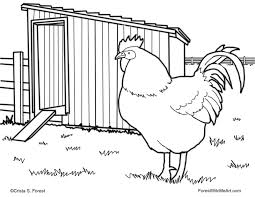 Small Picture Forest Wildlife Art Childrens Coloring Page Rooster In Style