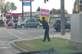 sign twirler sign twirler in bismarck does more than twirl his sign at