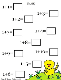 5. kindergarten math addition worksheets free printable easter math ...