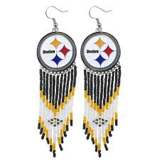 Dream Catcher Earings Simple Pittsburgh Steelers Dreamcatcher Earrings