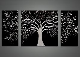 wall art black and white trees