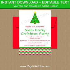 Christmas Inviations Christmas Tree Invitations Editable Chevron Holiday Invitation Template Printable Xmas Invites Christmas Invitations Instant Download C4