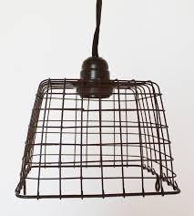 Wire Basket Swag Lamp Pendant Light ...