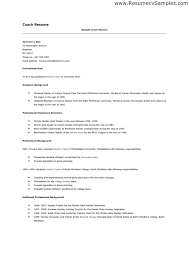 High School Coach Resume Sample cover letter sample for job For high school  students it is