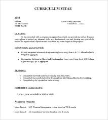 Resume Template For Freshers - Kleo.beachfix.co