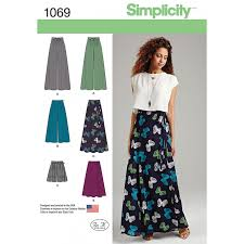 Simplicity Skirt Patterns Amazing Misses Wide Leg Trousers Or Maxi Skirt Simplicity Sewing Pattern 48