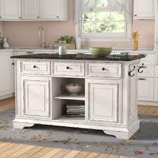 Image Kitchen Cabinets Wayfaircom Tiphaine Kitchen Island With Granite Top