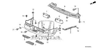 honda online store ridgeline rear bumper parts 2007 ridgeline rt 4 door 5at rear bumper 1 diagram