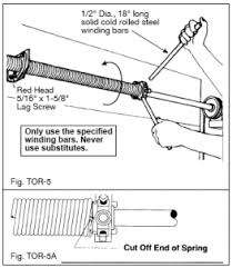 torsion garage door springs. torsion spring adjustment detail garage door springs
