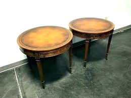 sidetables antique round side table leather top coffee topped vintage heritage rou